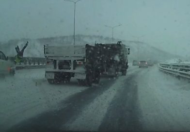В Мурманске несчастливого водителя сбили дважды