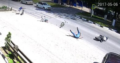 ДТП в Армавире мотоцикл и велосипедист