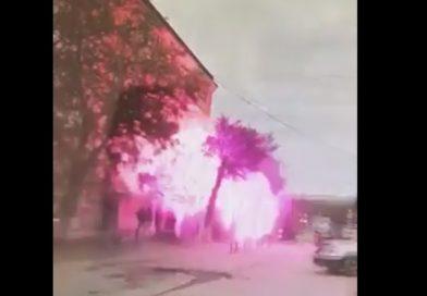 Взрыв дома в Волгограде попал на ВИДЕО