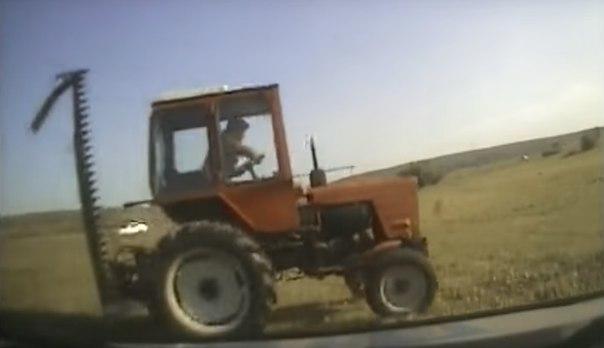 Побег на тракторе в Иркутской области