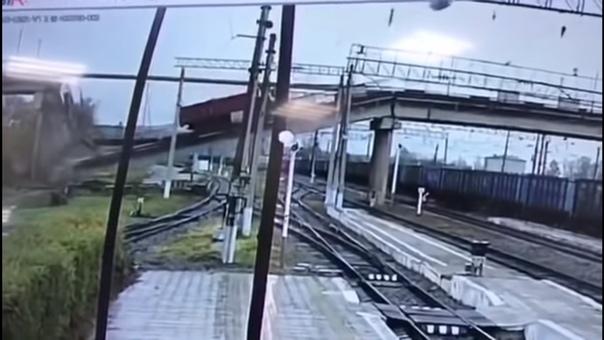 обрушение моста Транссиб