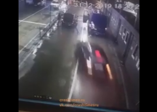 Появилось ВИДЕО жесткой аварии на КПП между Абхазией и Россией